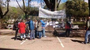 Intervención afuera de los Tribunales de Gualeguay.