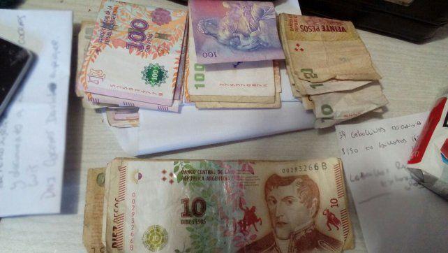 Incautan 250 cebollines de cocaína y dinero en efectivo