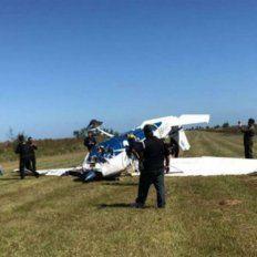 Suerte. El detenido fue mordido por un yacaré en el codo cuando la avioneta cayó en los esteros.