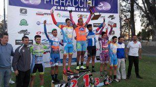 El podio de la competencia del sábado por la tarde en la localidad santafesina.