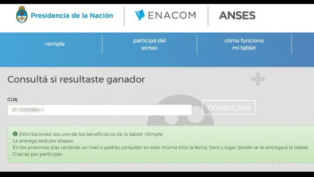 Ya se conocen los beneficiarios de las tablets de +Simple