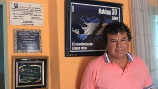 Ansias por volver. Benítez estuvo más de 60 días en Malvinas