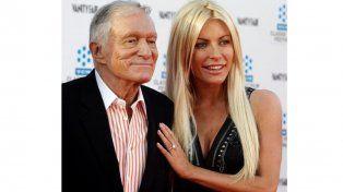Hugh Hefner y su tercera esposa
