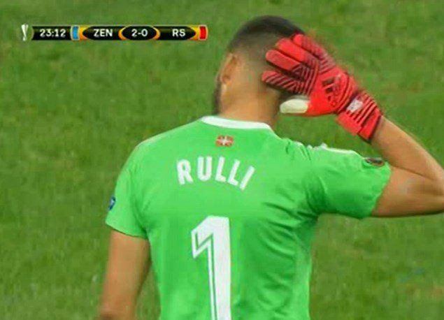 El blooper de Rulli en la Europa League ante el Zenit