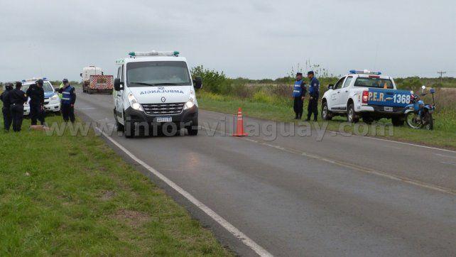 Falsa alarma. Hubo movimiento policial para trasladar una persona ebria. Foto: Info Villaguay