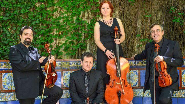 Calidad. El cuarteto está formado por miembros destacados de las Orquestas del Teatro Colón.