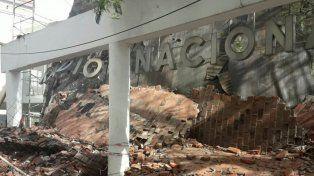 Se desplomó la cúpula del auditorio de Radio Nacional Córdoba