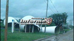 Valle María: La tormenta arrasó con la futura planta de agua potable