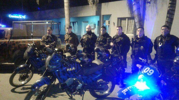La Policía desplegó efectivos para marcar presencia