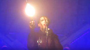 La salud de Marilyn Manson tras ser aplastado por un decorado en un concierto