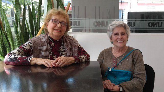 Profesoras. Leticia Guichard y María del Carmen Ilardo.