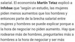 Tetaz responsabilizó a las mujeres por ganar menos