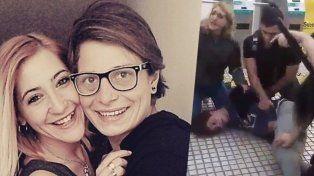 Detuvieron a una mujer por besarse con su esposa en la via pública