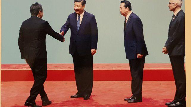 De Chajarí a Pekín. Roncaglia fue felicitado por el presidente de China.