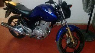 Retenida. La moto fue robada el 8 de setiembre
