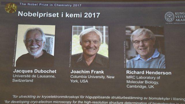 El Premio Nobel de Química 2017 fue para tres investigadores de biomoléculas