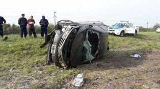 En violento despiste y vuelco murió el conductor de un vehículo