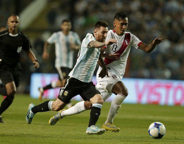Messi tuvo un par de chances