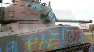 Pintada del tanque en Oro Verde