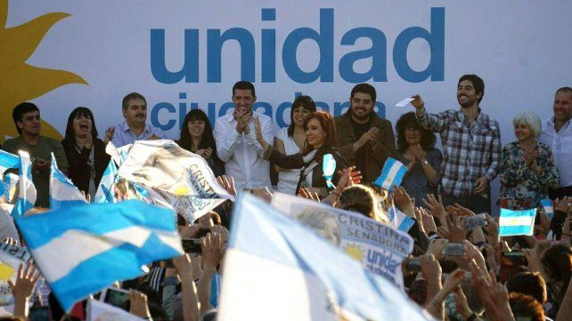 La expresidenta lideró un acto en el sur de Buenos Aires.