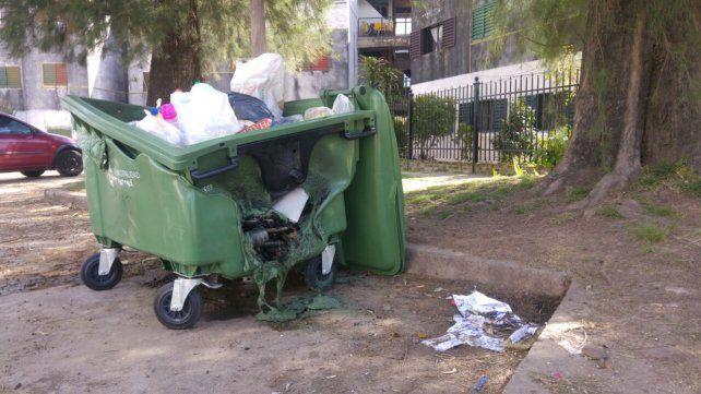 Daño. La comuna ya repartió 1.200 contenedores en el período y se destruyeron 36.UNO/Pablo Felizia