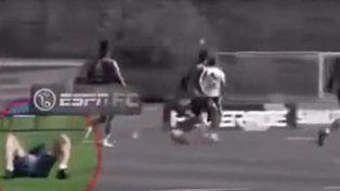 El tremendo pelotazo de Lionel Messi a Darío Benedetto