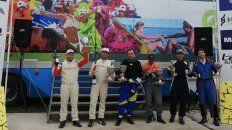 Posan los integran del podio para la categoría A6. Bonnin-Benitez no la tuvieron fácil.