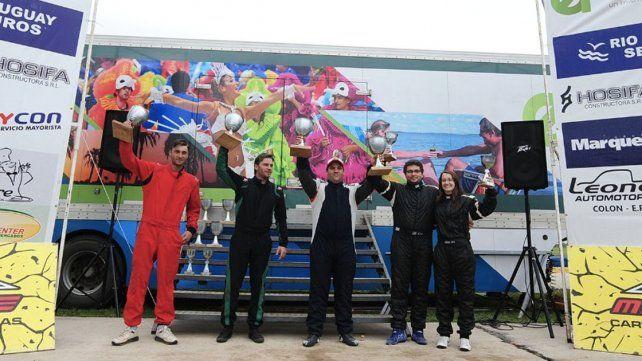 Podio AZ.Ramirez y Udrizard ganaron; luego Jorge y Felipa Giebert; Nattero-Wetzel en tercer lugar.