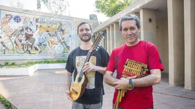Músicos. Faes tocará junto al aerofonista Alfredo Arce.