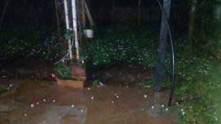 Una intensa tormenta con granizo azotó a Misiones