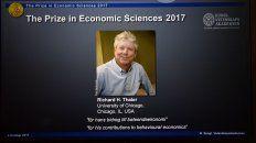 premiaron con el nobel de economia al estadounidense richard thaler