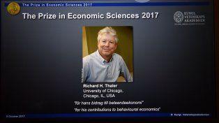 Premiaron con el Nobel de Economía al estadounidense Richard Thaler