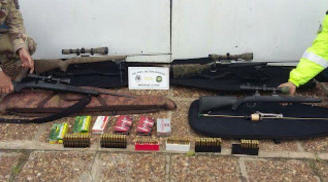 Secuestran gran cantidad de armas y cartuchería en las rutas 6 y 12