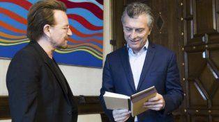 Macri con Bono: de qué hablaron durante una hora