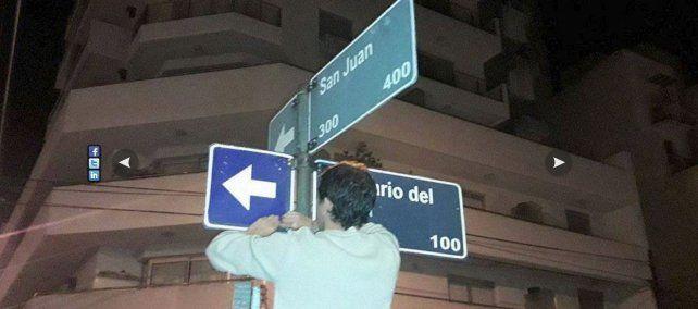 Cambio de sentido de calle Rosario del Tala