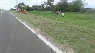Un hombre sufrió traumatismo de cráneo tras volcar su camioneta a la altura de Cerrito