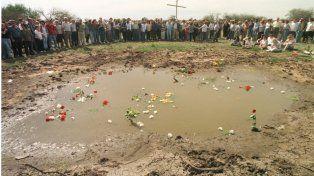 Homenaje de los familiares de las víctimas del accidente de Fray Bentos