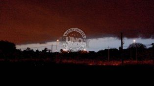 Alerta a corto plazo por tormentas fuertes y caída de granizo para Entre Ríos