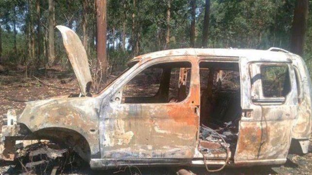 Sin motor. La camioneta fue desguazada antes de ser incendiada el 5 de octubre.