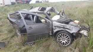 Se durmió y provocó un tremendo accidente en ruta 130