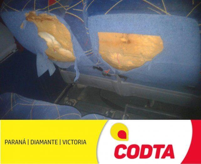 Codta reclamó por el vandalismo que sufrieron dos de sus unidades