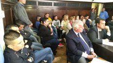 Condenas efectivas. Los 15 procesados fueron cuestionados por el fiscal Candioti. Foto: Javier Aragón