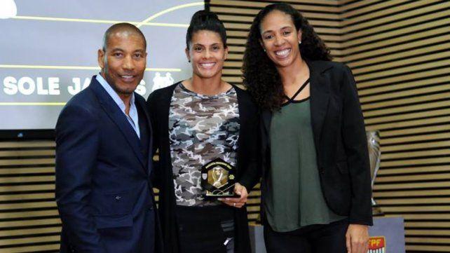 Sole Jaimes fue elegida como la mejor delantera del fútbol paulista