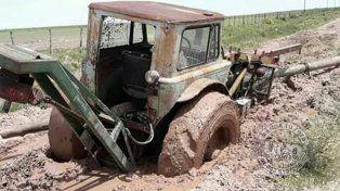 Quinto distrito Gualeguay: Hasta los tractores se empantanan
