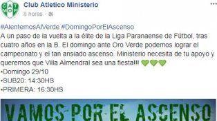 En Villa Almendral preparan una fiesta para el domingo