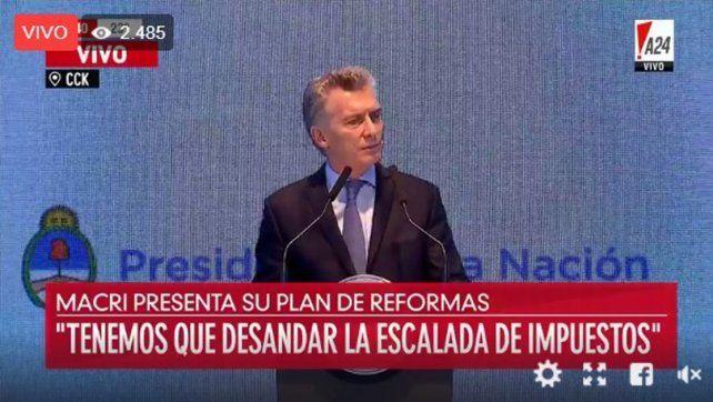 En VIVO: Macri habla sobre las próximas reformas