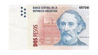 Los últimos meses. Los billetes habrá que canjearlos por las monedas de dos pesos.