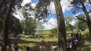 La primera ronda del EPEP en el camping de la Escuela Alberdi. Foto UNO.