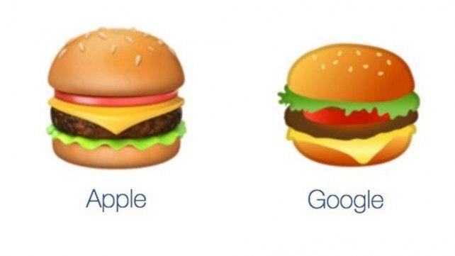 Debate en Twitter por los emojis de hamburguesas de Google y Apple