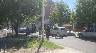 El martes el choque se produjo en calle San Luis. Foto UNO.